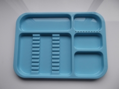 N651 DIVIDED TRAY - LIGHT BLUE