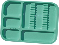 N651 DIVIDED TRAY - GREEN