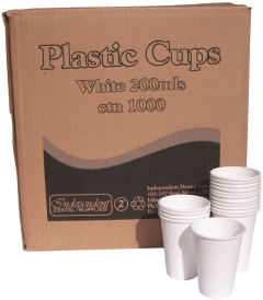 IDS PLASTIC CUPS 200ML (1000)