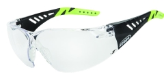 Biosphere Safety Glasses Black/Green Clear Lens