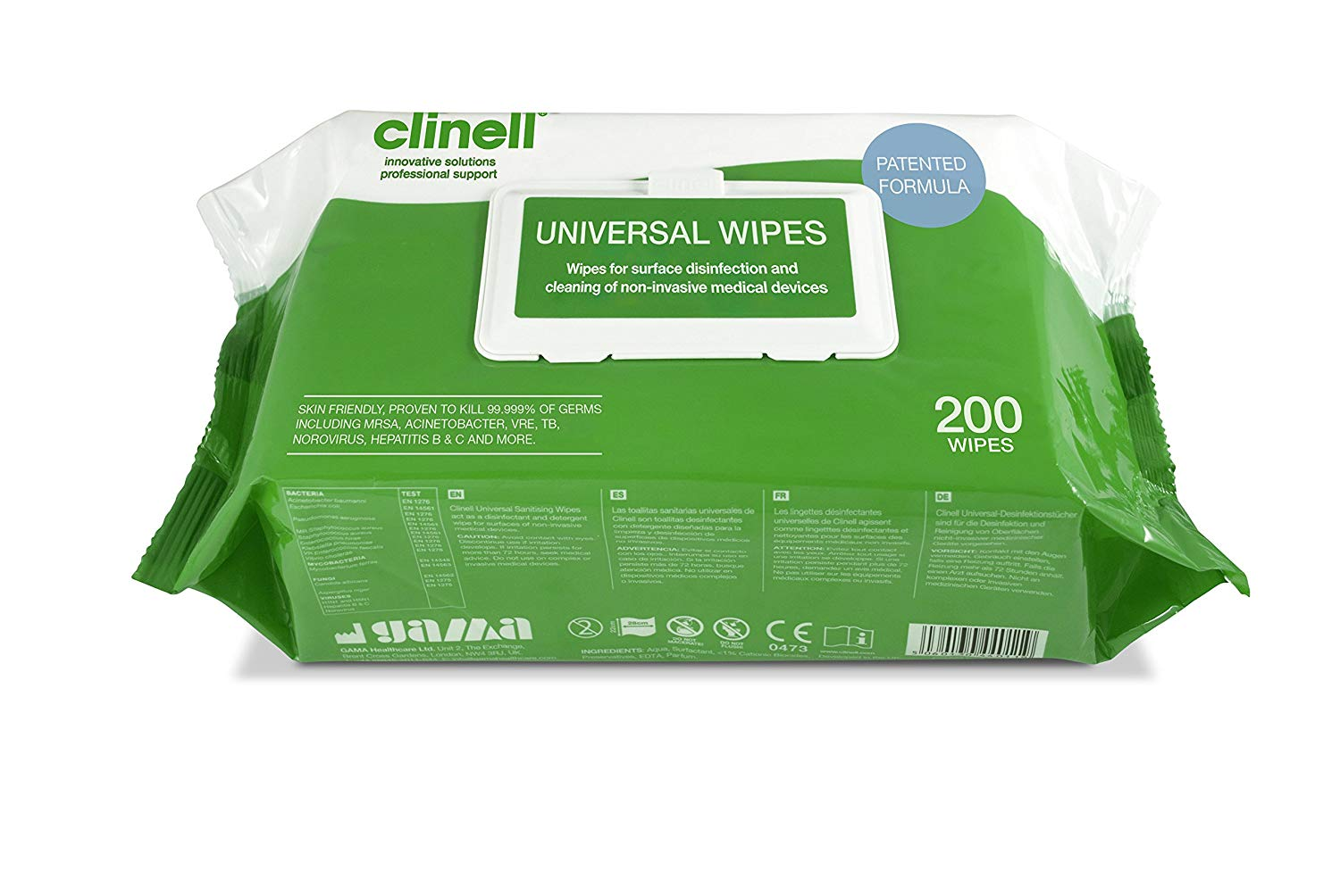 Clinell Universal Sanitising Wipes (200)